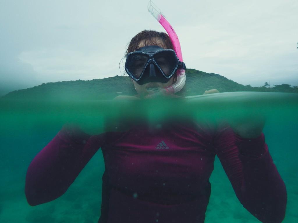Marifil snorkeling in Coron, Palawan.