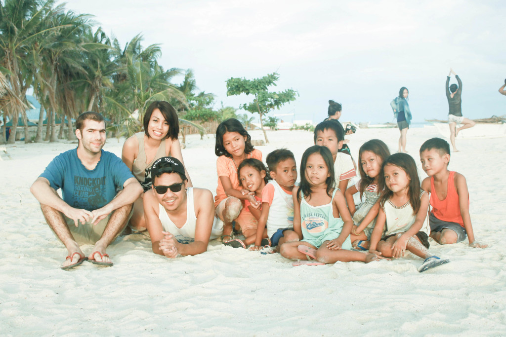 We visited Bantayan Island few months after it was devastated by super typhoon, Yolanda. Although the island is slowly recovering, the damage is still visible. There were roofless houses, broken infrastructures, coconut trees lie on the ground and some of the resorts were closed.  These kids we meet in the island were very excited and no hesitation to pose with us for a groupie. :) There were no signs of sadness on their face despite of what they've been through.