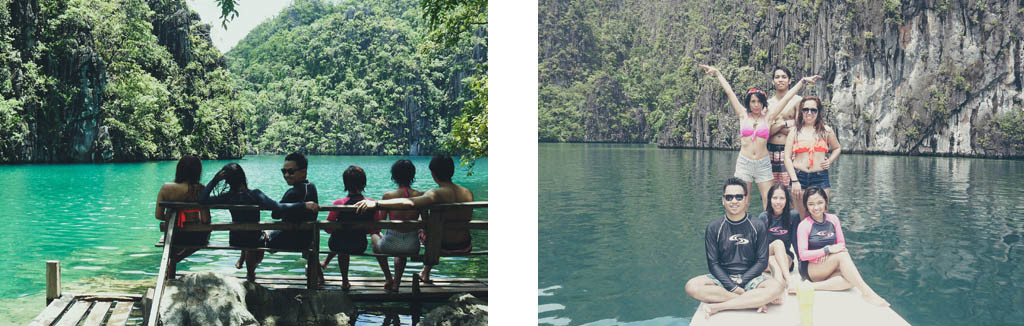 (Left) Being badass in Kayangan Lake (Right) #noNeedForCaption