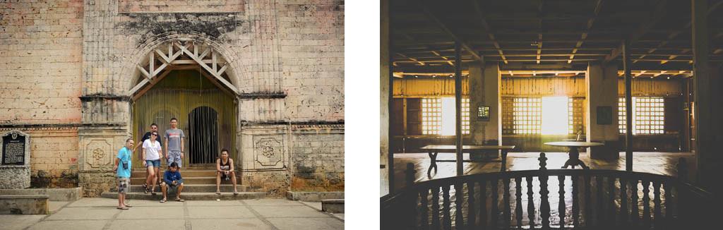 (Left) Lazi Church (Right) Inside Lazi Convent