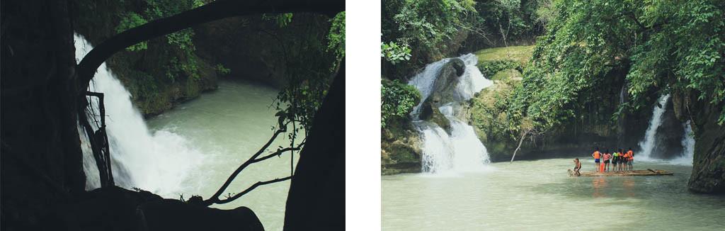 (Left) First Falls. (Right) Second Falls.