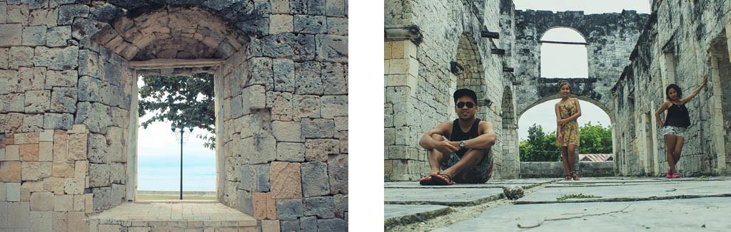(Left) Inside the Cuartel. (Right) Me, Aika and Kakai having photoshoot