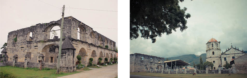 (Left) Cuartel. (Right) Our Lady of Immaculate Concepcion Church