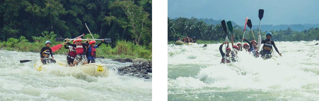 Enjoying the rapids