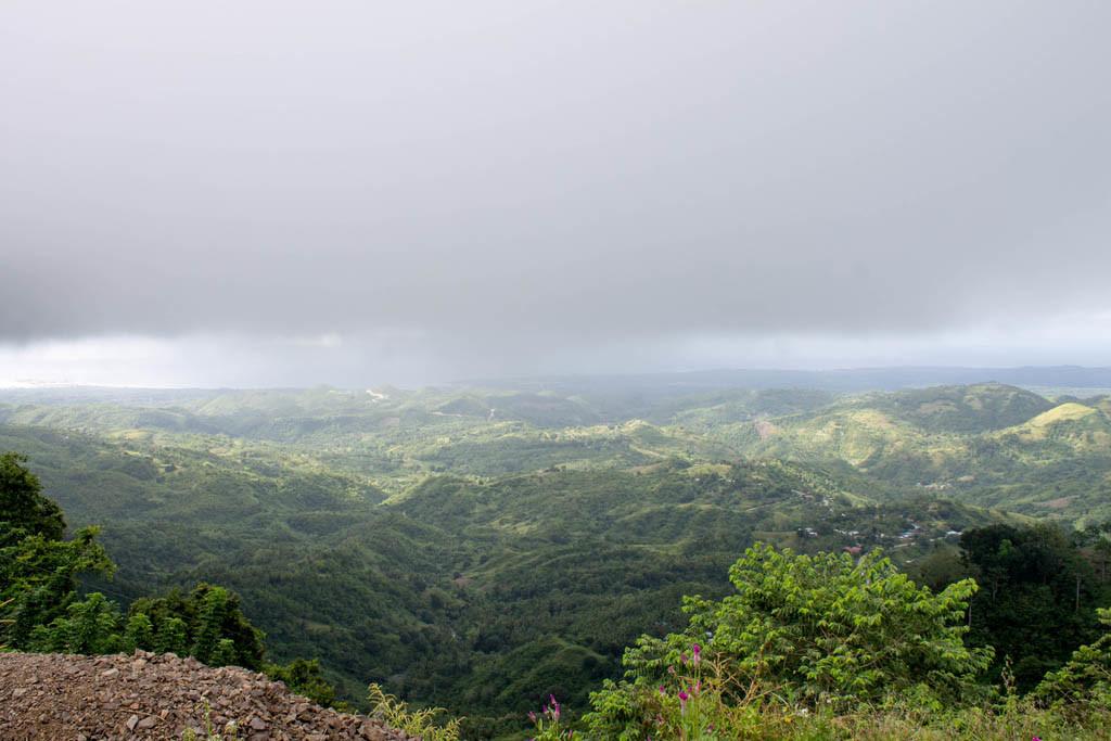 Lush green mountains in Balamban area