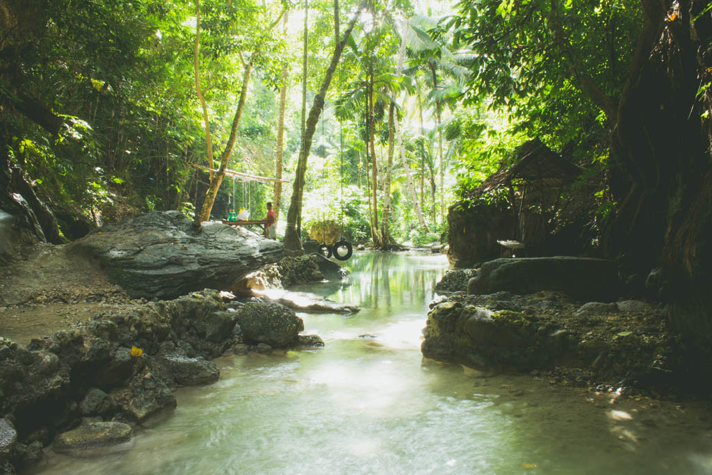 View from the first level of Binalayan Falls.
