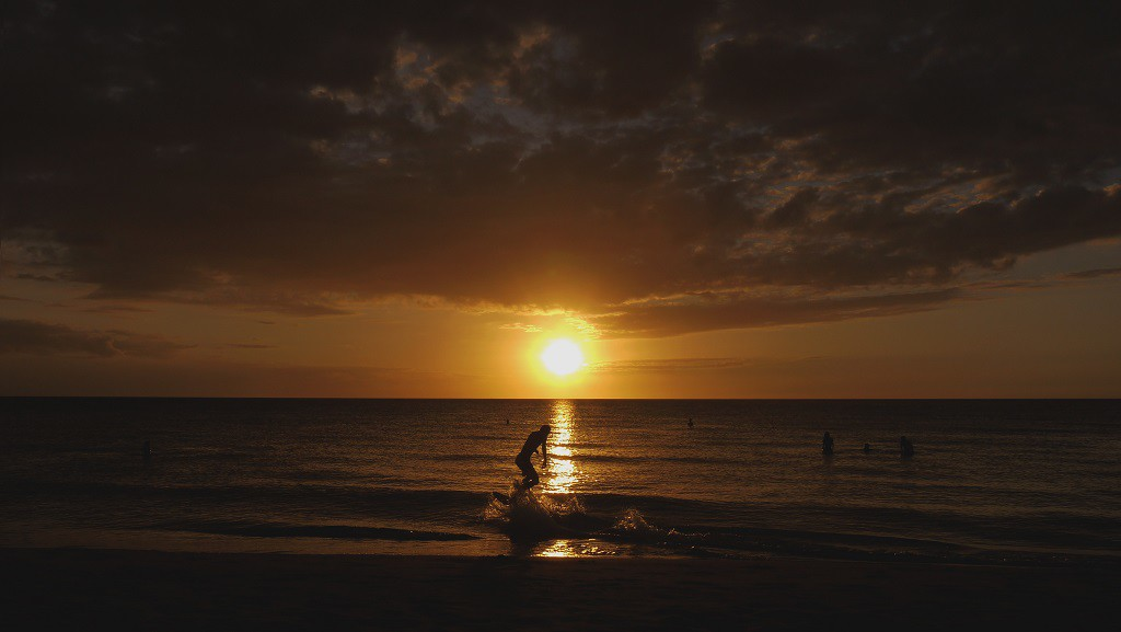 This is what I am talking about. Best sunset ever. #skimBoarding