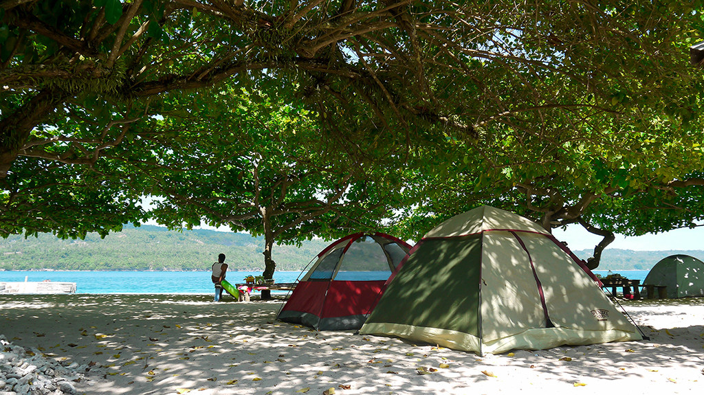 Bring your own tents or rent from the resort.