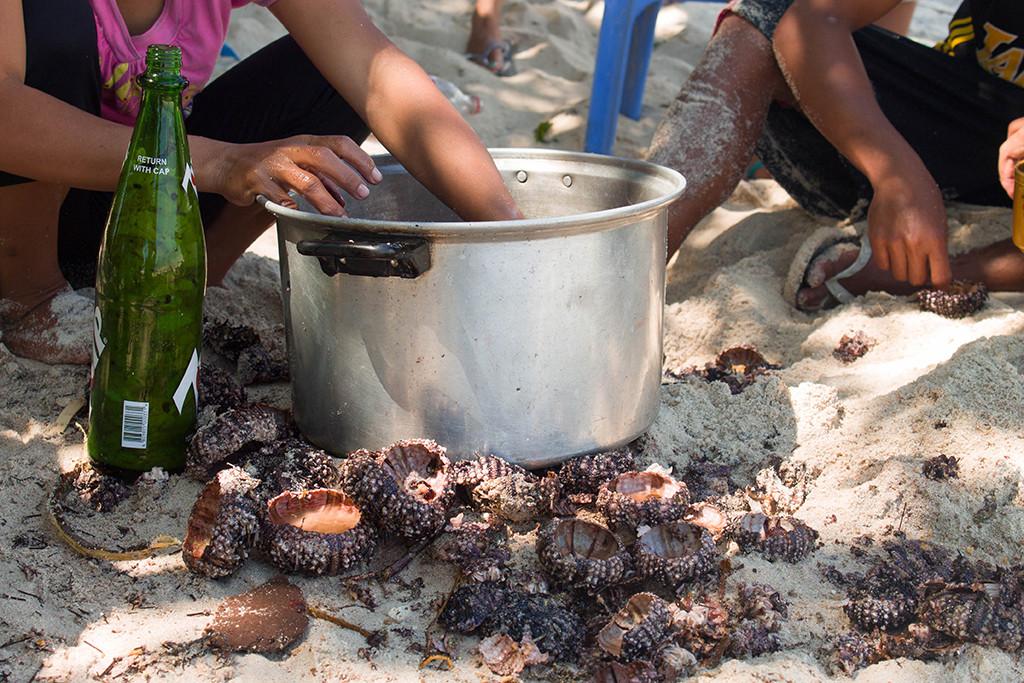 SEA URCHINS!!! Act like a local, eat like a local.