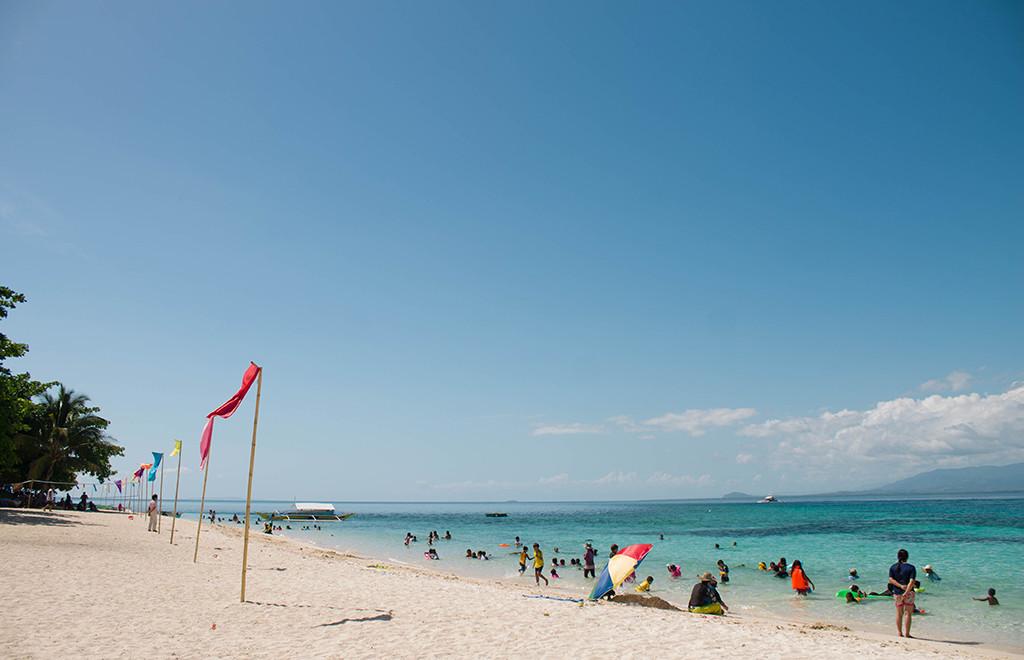 White sand beach - Canigao Island