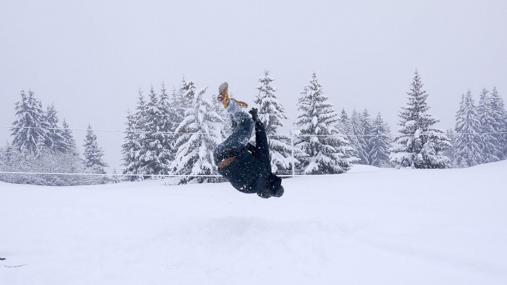 I can't ski but I can backflip (almost). ;)