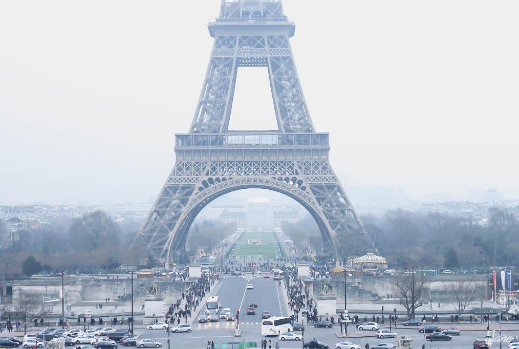 Eiffel up close.