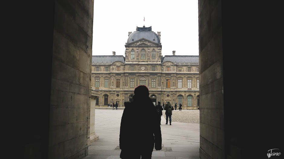 Going inside to The Louvre