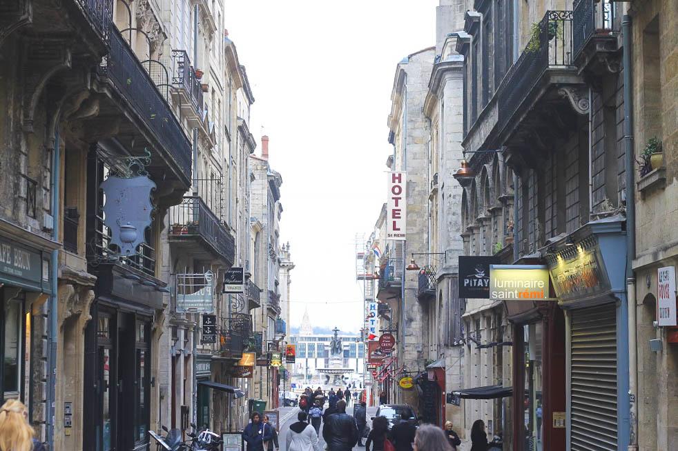 At the end is Place de la Bourse.