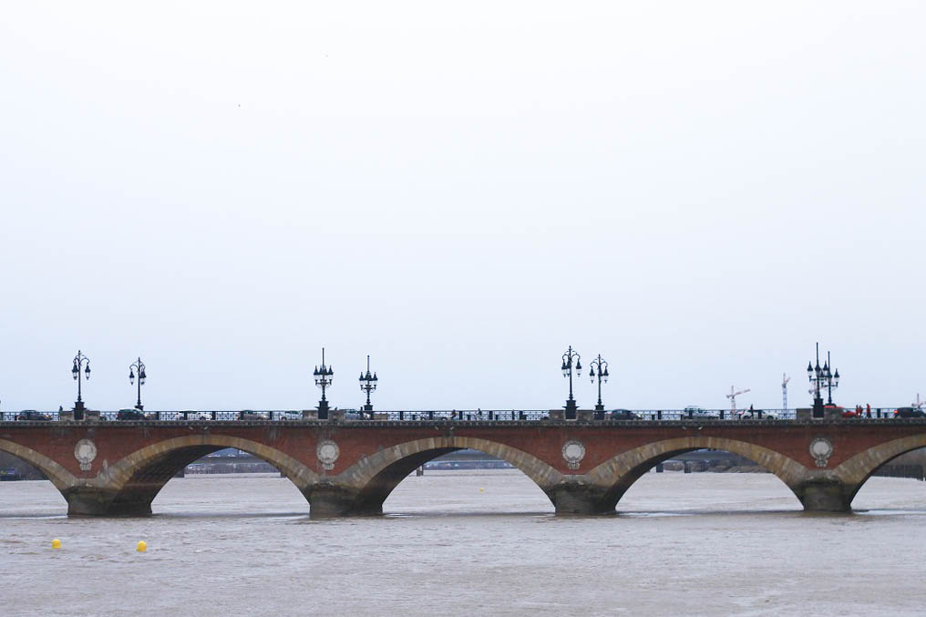 Pont de pierre - First bridge over the Garonne River at Bordeaux, it was planned and designed during the First French Empire, under the orders of Napoleon I