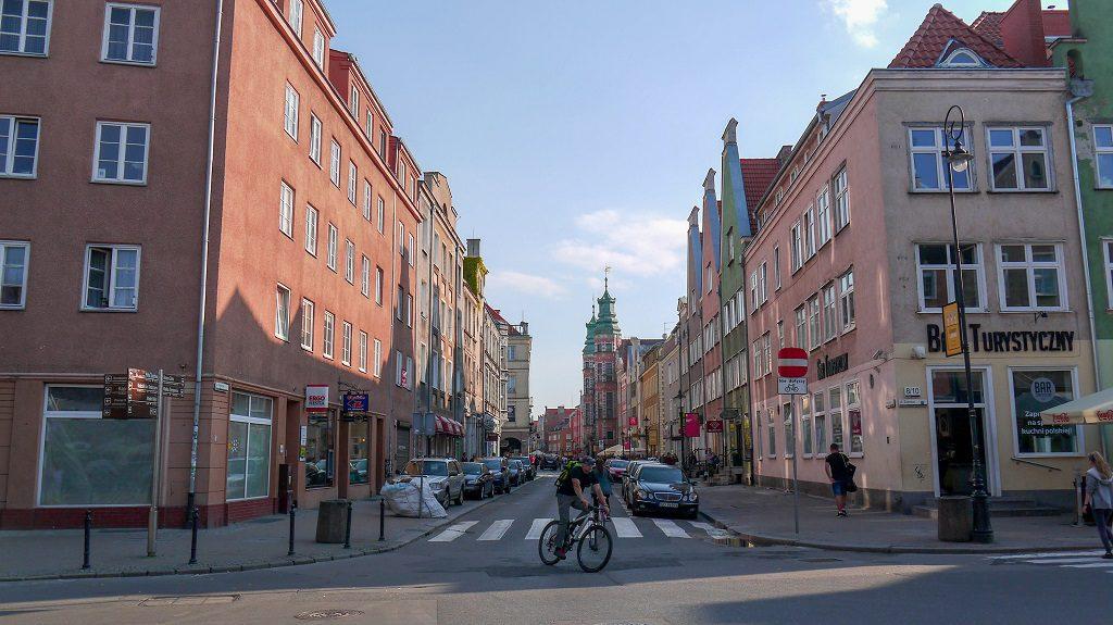 Just an ordinary beautiful street of Gdansk