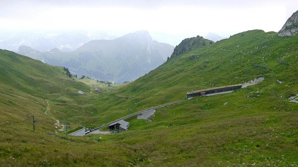 Tunnel tracks cutting through mountains.