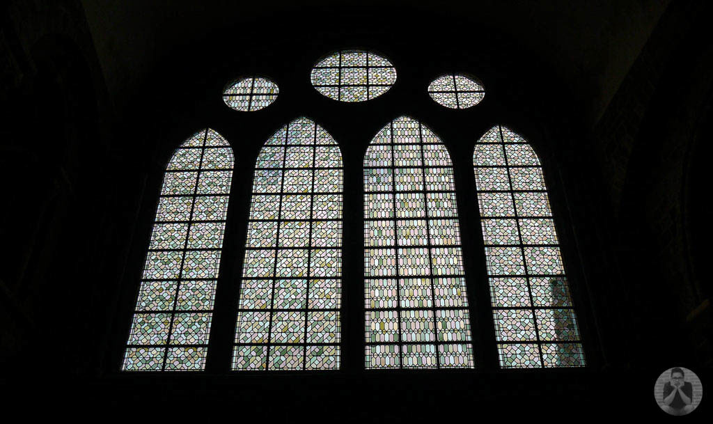 Pattern seen on the monastery's window.