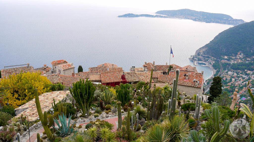 Overlooking the Mediterranean coast.
