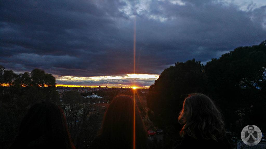 Sunset at Templo de Debod